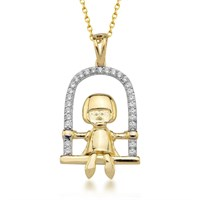 Goldstore 14 Ayar Altın Sallanan Çocuk Kolye Gp39067