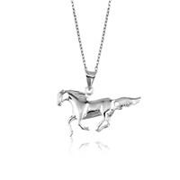 Tekbir Silver Gümüş At Figürü Kolye