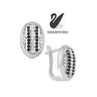 Sheamor Swarovski Oval Sırataş Küpe