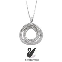 Sheamor Swarovski Double Ring Kolye