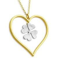 Bella Gloria Kalpli Altın Şans Kolyesi (PP11104)