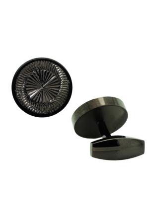 Chavin Siyah Çelik Erkek Kol Düğmesi cg55