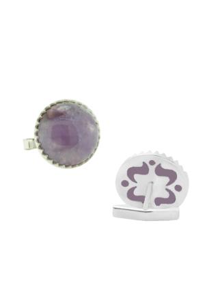 Chavin Ametist Taşlı Gümüş Kol Düğmesi cm38