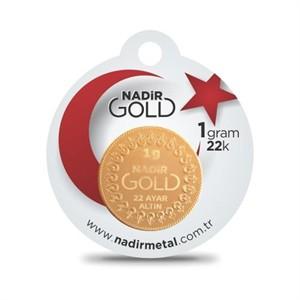 nadir gold 22 ayar külçe gram altın 1 gr. yuvarlak