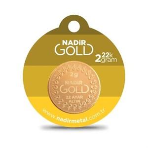 nadir gold 22 ayar külçe gram altın 2 gr. yuvarlak
