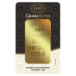 iar 24 ayar külçe gram altın 50 gr. - aynı gün kargo