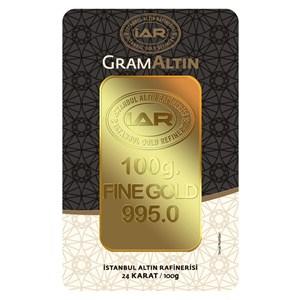 iar 24 ayar külçe gram altın 100 gr. - aynı gün kargo