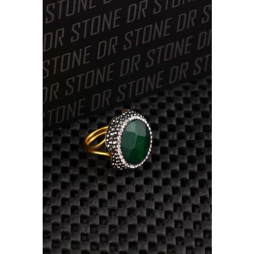 Dr Stone Doğaltaş -Kadın Ceyt Yüzük 20Ar491