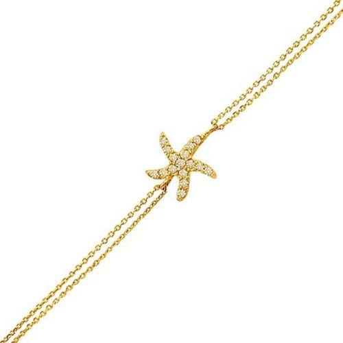 Bilezikhane Deniz Yıldızı Bileklik 2,31 Gram 14 Ayar Altın