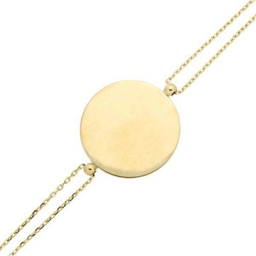 Bilezikhane Bileklik Plaka Sarı 2,67 Gram 14 Ayar Altın