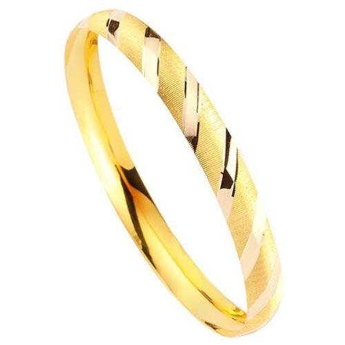 Bilezikhane Hediyelik Bilezik 5,00 Gram Çizgili Model 14 Ayar Altın