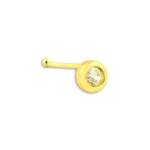 Bilezikhane Hızma Tek Taş Yuvarlak 0,15 Gram 14 Ayar Altın