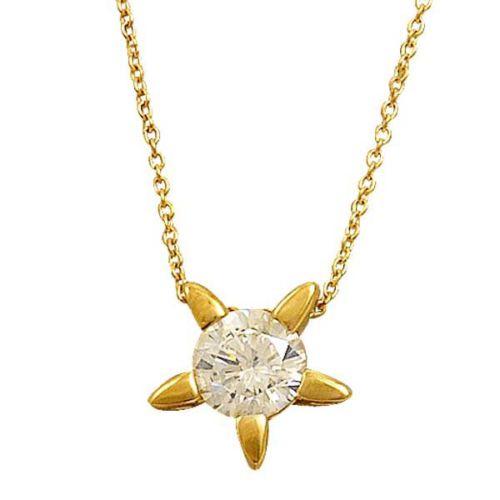 Bilezikhane Tektaş Yıldız Kolye 1,44 Gram 14 Ayar Altın
