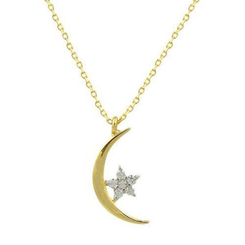 Bilezikhane Ay Yıldız Kolye 1,38 Gram 14 Ayar Altın