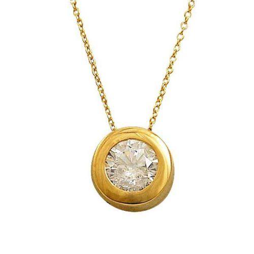 Bilezikhane Tektaş Kolye 1,72 Gram 14 Ayar Altın
