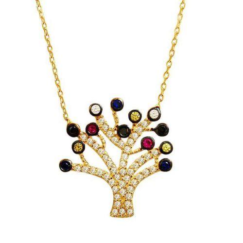 Bilezikhane Soy Ağacı Kolye 2,94 Gram 14 Ayar Altın