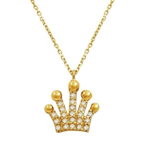 Bilezikhane Kraliçe Tacı Kolye 2,37 Gram 14 Ayar Altın