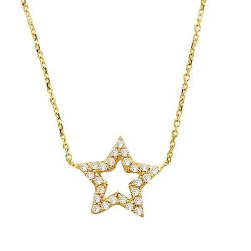 Bilezikhane Yıldız Kolye 2,02 Gram 14 Ayar Altın