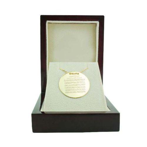 Bilezikhane Dua Plaka Kolye Ayetel Kürsi 3,50 Gram 14 Ayar Altın