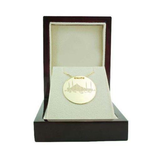 Bilezikhane Dua Plaka Kolye Besmele (1) 3,50 Gram 14 Ayar Altın