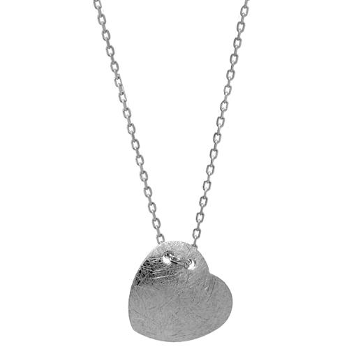 Chavin Bombeli Kalp Gümüş Bayan Kolye ba73