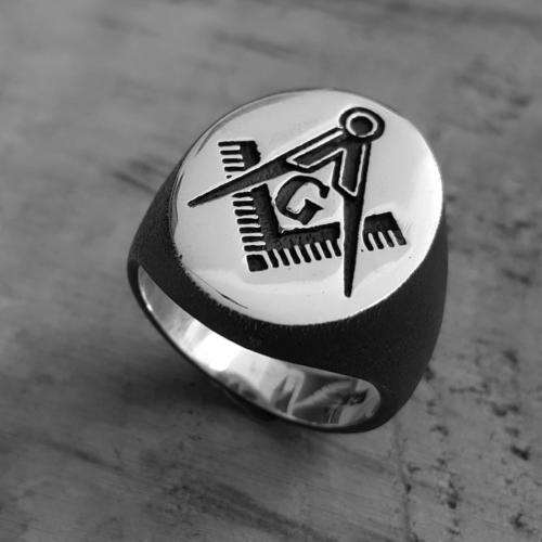 Chavin Mason Yüzüğü Gümüş Erkek Yüzük de80