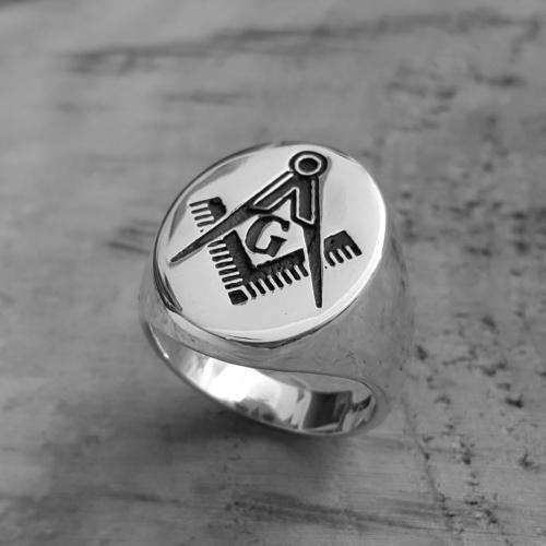 Chavin Mason Yüzüğü Gümüş Erkek Yüzük de78