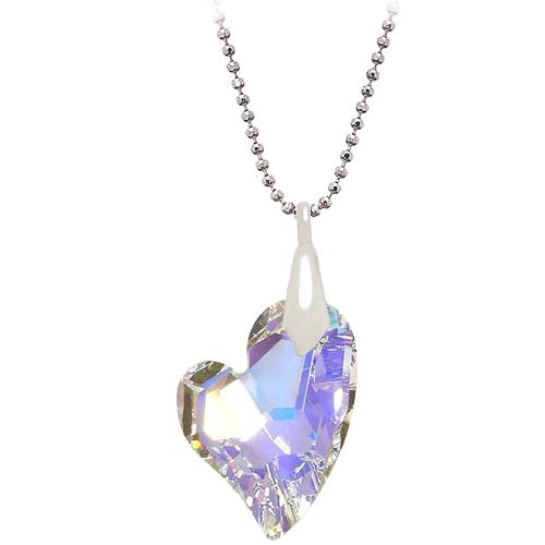 Chavin Kalp Zirkon Taşlı Gümüş Bayan Kolye bz31