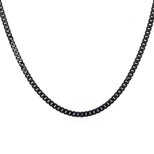 Chavin Traşlı Siyah 75 cm. 3,5 mm. Erkek Çelik Zincir de92