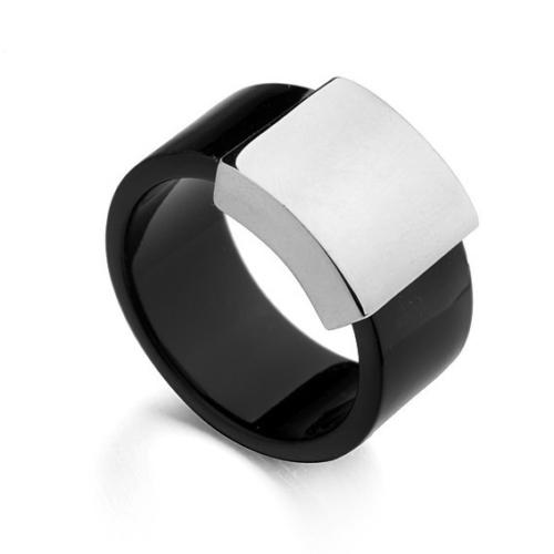 Chavin Siyah Çelik Bayan-Erkek Yüzük dc22