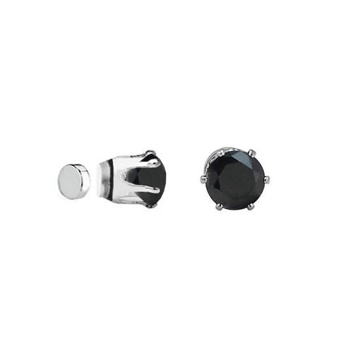 Chavin Unisex Mıknatıslı 6 Tırnaklı Siyah Taş 4 mm.Küpe ce85-4