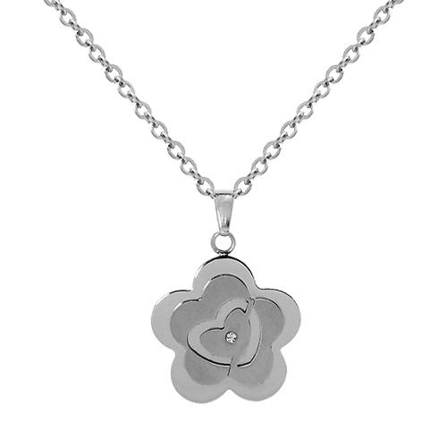 Chavin Çiçek Bayan Çelik Kolye bc62