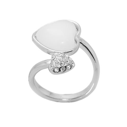 Bee One ,zirkon taşlı kalp bijoux yüzük bh70by