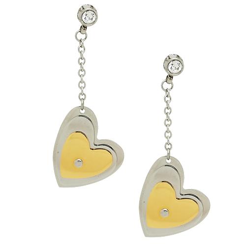 Chavin Kalp Altın Kaplama Çelik Bayan Küpe bc14