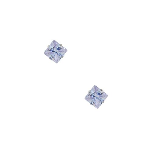 Chavin 3 mm. Lila Kare Zirkon Unisex Çelik Küpe bd97lila-3mm