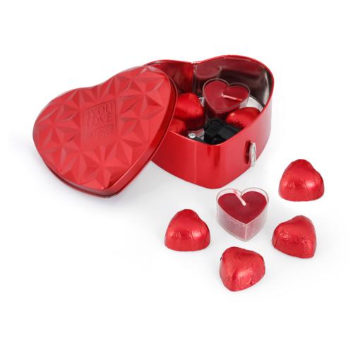 Chavin Kırmızı Kalp Kutu Müzik Kutusu - Çikolatalı Lovestory