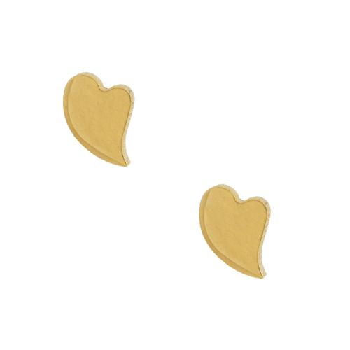 Chavin Altın Kaplama Kalp Çelik Küpe bz12