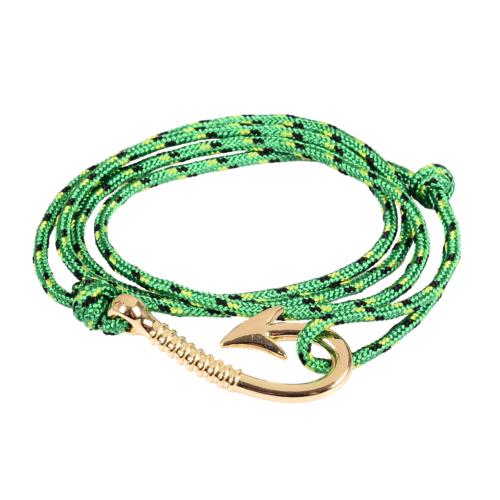 Chavin Yeşil İpli Sarı Kanca Erkek-Bayan Çelik Bileklik cz23