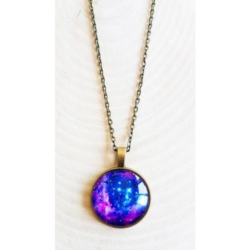 Köstebek Purple Galaksi Kolye Kdk201