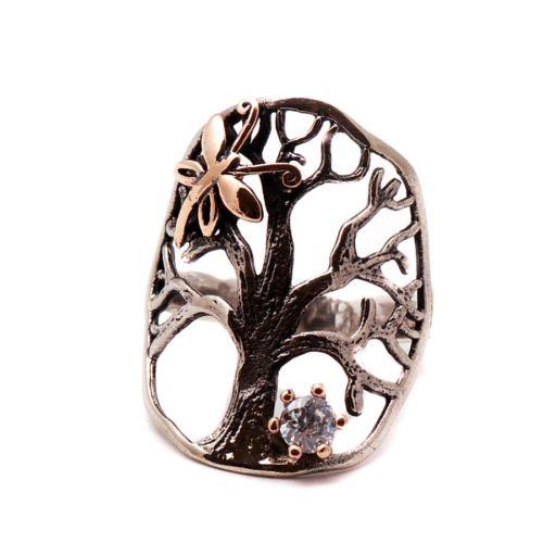 Sümer Telkari Hayat Ağacı Gümüş Yüzük 1052