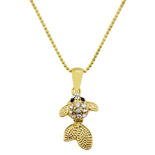 Bee One Zirkon Taşlı Balık, Bayan Bijoux Kolye ac18