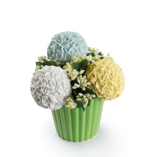 Ejoya Gifts 3 Lü Top Güller Taş Aranjman Yeşil