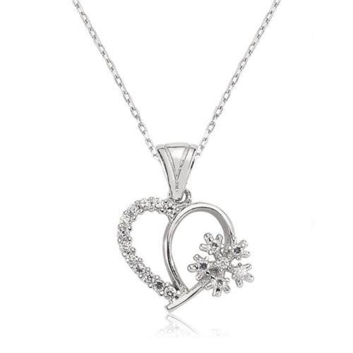Affix Silver Gümüş Kartanesi Kalp Kolyesi
