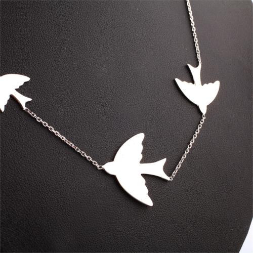 Affix Silver Gümüş 3'Lü Kuş Kolyesi