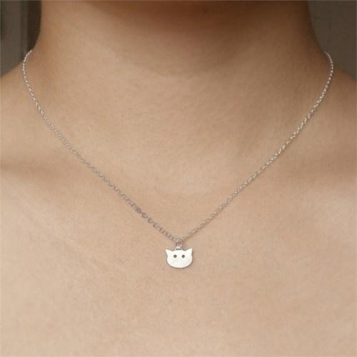 Crystal Baby 925 Ayar Gümüş Özel Tasarım Yavru Kedi Kolye