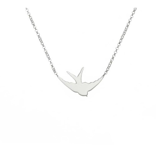 Crystal Baby Gümüş Özel Tasarım Kuş Kolyesi Yeni