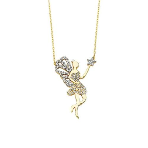 Ferreguer Diamond Kolye 14 Ayar Altın AT200111