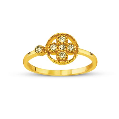 Allegro Gold Zirkon Taşlı Altın Yüzük AGT0509