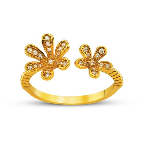 Allegro Gold Çiçek Bahçesi Altın Yüzük AGT0510