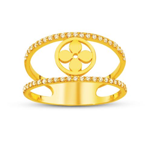 Allegro Gold Yonca Altın Yüzük AGT0511
